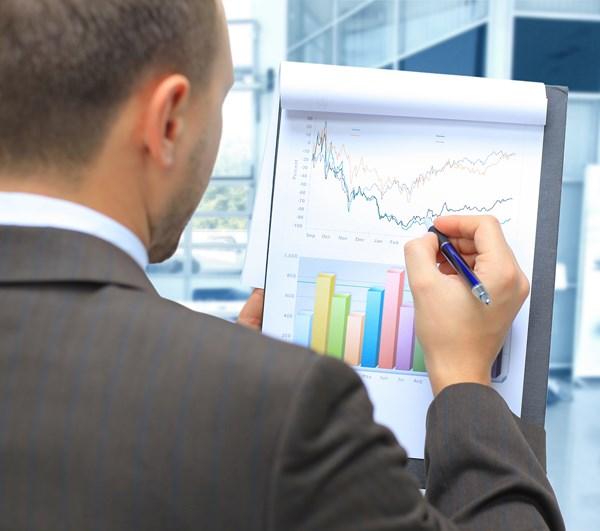 biznes wykres spadek