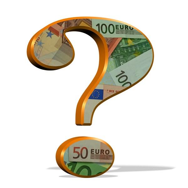 znak zapytania eur