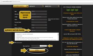Konkurs na dziennik opcji binarnych - instrukcja zakładania konta konkursowego.