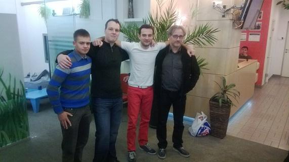 Od lewej: Przemysław Tustanowski, Marcin Nowogórski, Denis Borisovsky, Piotr Tomaszewski
