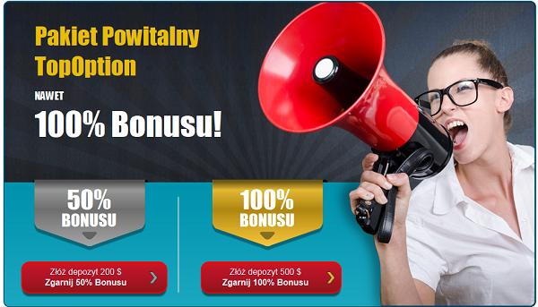 TopOption bonusy