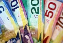 Banknoty dolar kanadyjski CAD o nominale 5 10 20 50 100