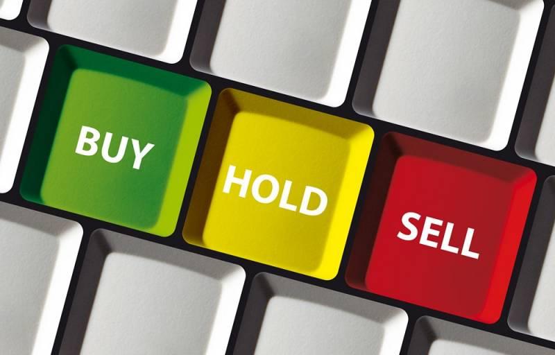 Buy - hold - sell slider
