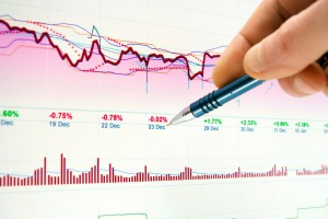 Business graphs analysis slider