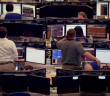 Traders trading floor