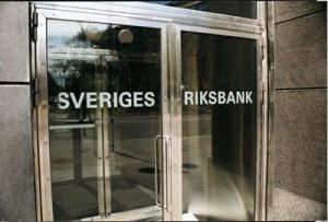 Riksbank z ujemną stopą repo