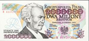 Najwyższa wartość banknotu w latach 1989-1994