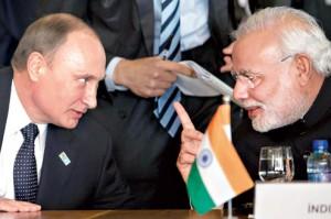 Prezydent Putin i premier Modi