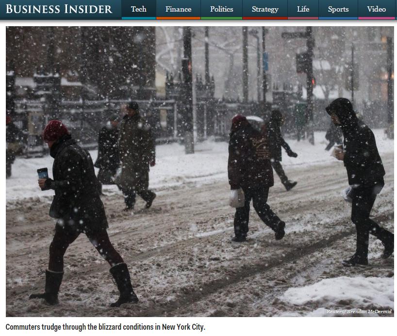 Business Insider pisze o zimie w Nowym Yorku.