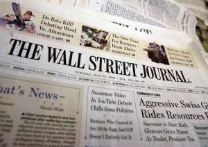 Bitcoin na pierwszej stronie The Wall Street Journal