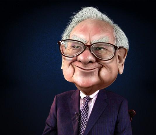 Karykatura Warrena Buffetta