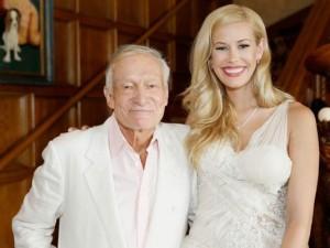 Kennedy Summers z ojcem Playboya - Highiem Hefnerem.