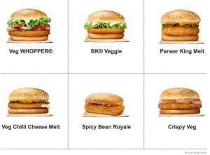 Propozycje wege-kanapek od Burger Kinga   Kliknij, aby powiększyć