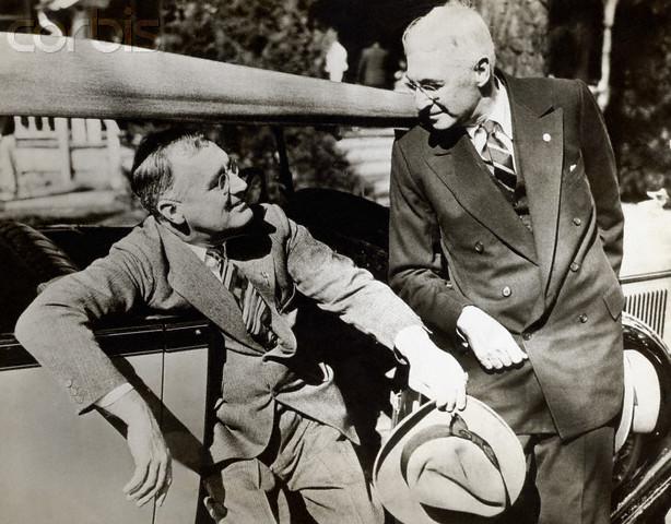 Franklin D. Roosevelt oraz Bernard Baruchźródło: www.corbisimages.com