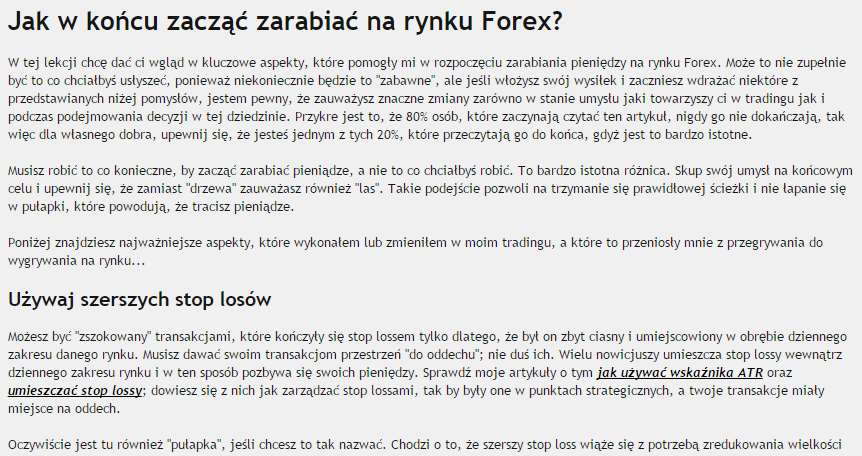 Kto zarabia forex