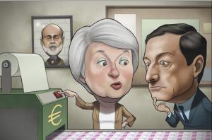 yellen-teaching-draghi-how-to-print-money-funny-photo
