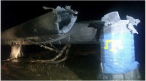 Krym bez elektryczności po wysadzeniu słupów wysokiego napięcia