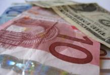 kurs euro i dolary banknoty