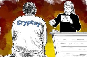 Grafika przyrównująca giełdę Cryptsy do piramidy finansowej