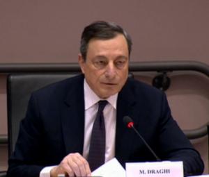 Mario Draghi przedstawiał swoje stanowisko przed członkami europejskiej Komisji Gospodarczej i Monetarnej w Brukseli.