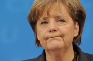 Przygnębiona Angela Merkel
