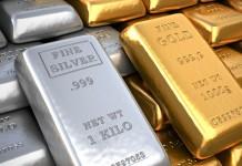 sztabki złotra i srebra