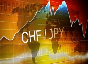Para walutowa CHF/JPY na tle wykresu i mapy Kurs franka nie poradził sobie z umacniającym się jenem. CHF/JPY coraz bliżej ważnego wsparcia