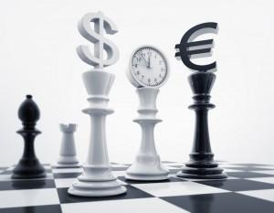 Euro i dolar jako szachy