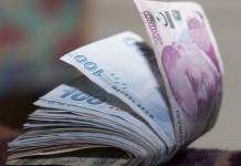 Zwitek banknotów lira turecka TRY