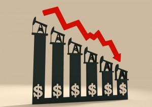 spadająca cena ropy