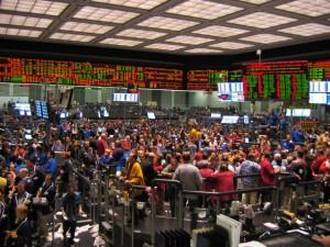 Parkiet Chicago Mercantile Exchange. W tym momencie jest pusty - tam również nastąpiła cyfryzacja handlu.