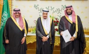 Król i książę Arabii Saudyjskiej