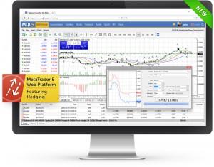 Najnowszy MetaTrader5 w wersji Web wygląda niemal identycznie jak wersja desktopowa. |źródło: www.metaquotes.net