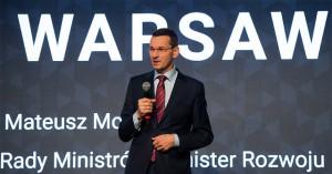 Wicepremier Mateusz Morawiecki zamierza przekonywać duże instytucje finansowe do zainwestowania w Polskę. Na zdjęciu podczas otwarcia Campus Warsaw.
