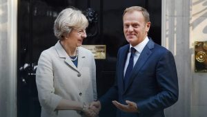 Theresa May oraz Donald Tusk