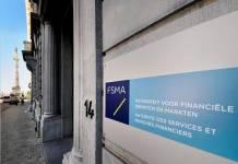 Logo FSMA na budynku urzędu