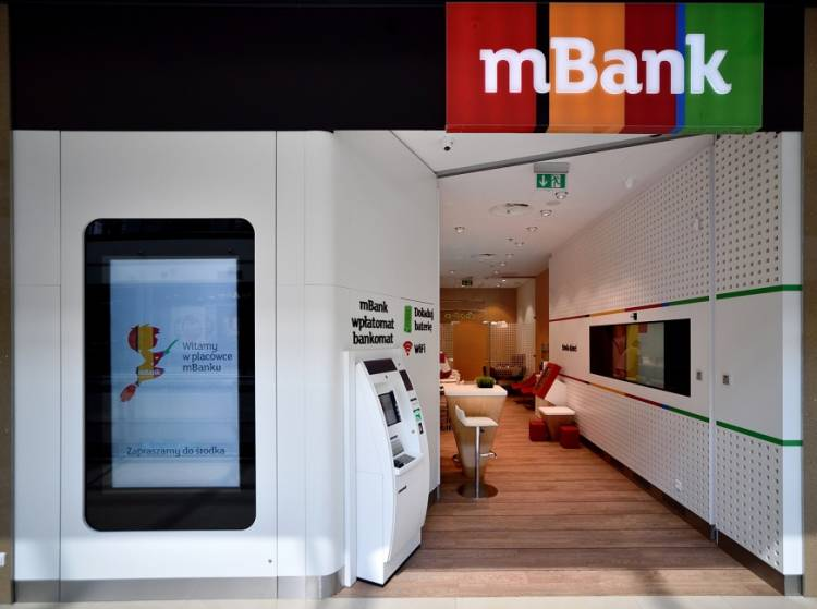 mbank kurs GPW, logo mBanku