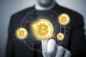 lewitujące monety bitcoin btc