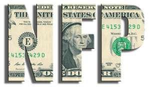 napis nfp w kolorze dolarowym