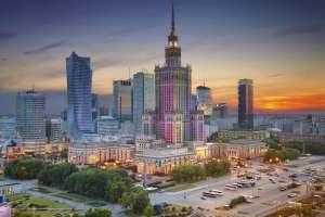 Panomara Warszawy z widokiem Pałacu Kultury