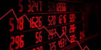 Spadek wartości akcji