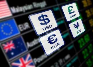 Notowania walut USD, EUR, GBP, JPY