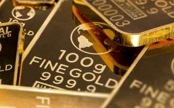 sztabka złota 100 gram