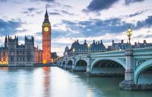 Widok na big bena w Londynie