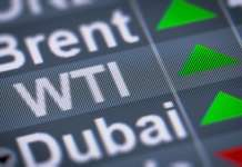 Napis ropy WTI notowania surowca