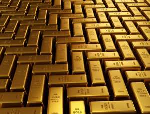 Sztaby złota ułożone w mozaikę
