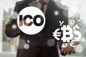 Logo ICO i kryptowalut oraz walut