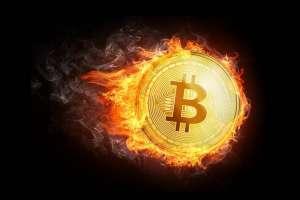 bitcoin płonie
