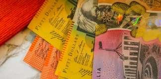Banknoty dolar australijski AUD o różnych nominałach