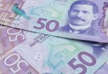Banknoty dolara nowozelandzkiego NZD o nominale 50